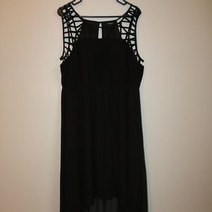Torrid | black high low dress Size 1